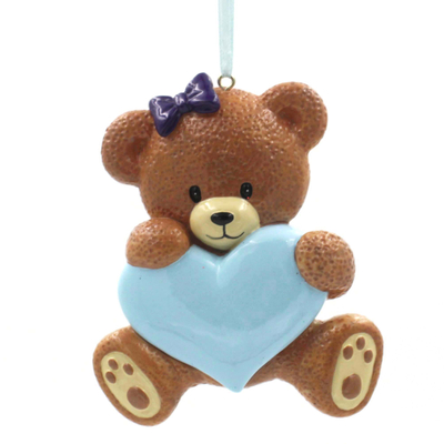 Baby Bear Ornament Personalized Christmas Tree Ornament