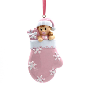 Baby With Mattle Personalized Christmas Tree Ornament