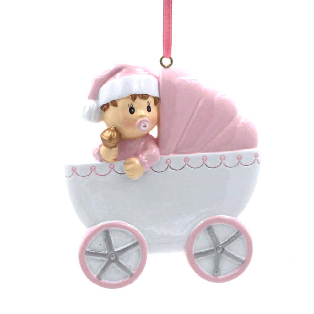 Baby With Baby-car Ornament Personalized Christmas Tree Ornament