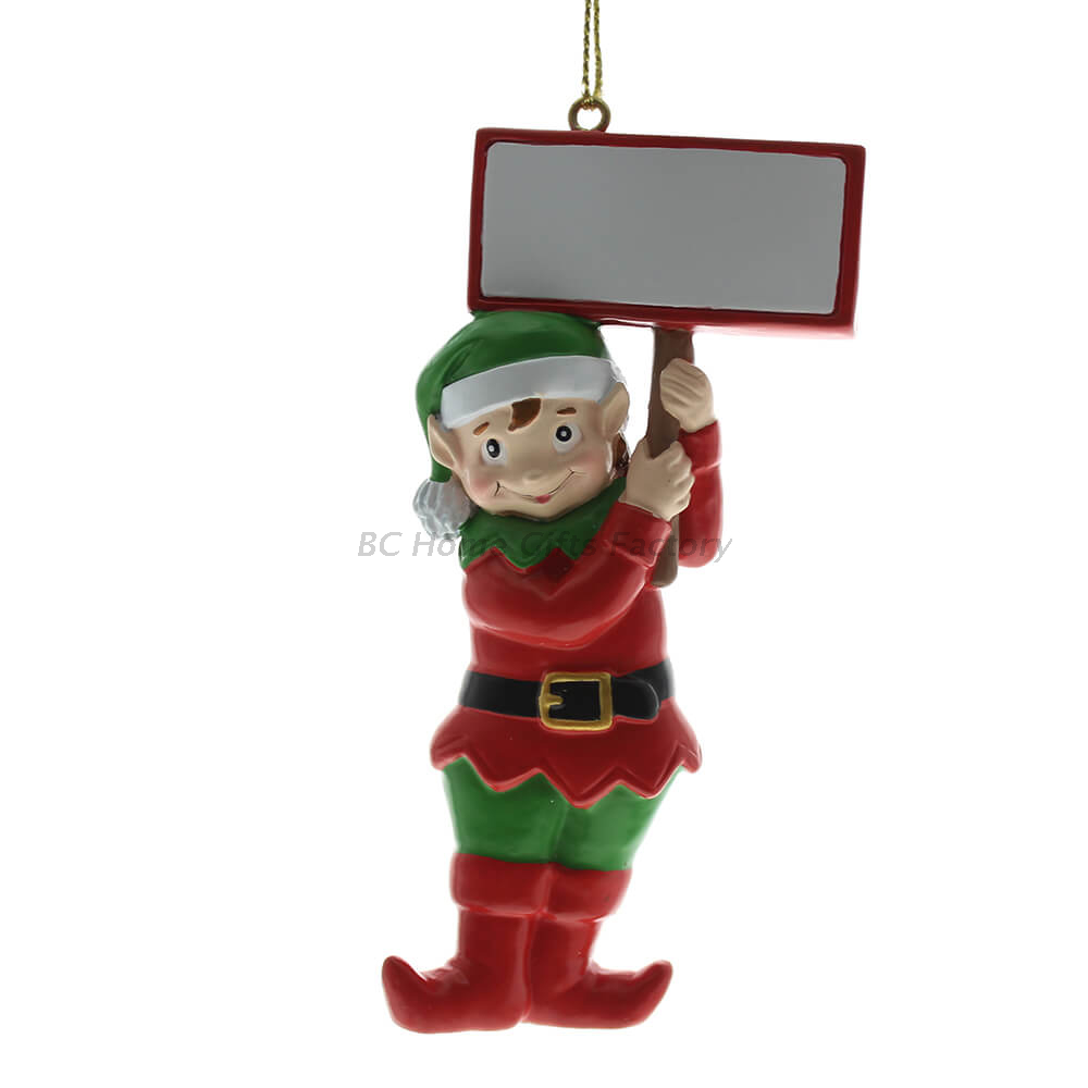 Personlized 3D Elf Ornament