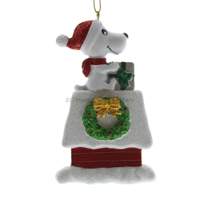 Personlized 3D House and Dog Ornament