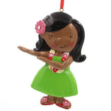 Hula Girl Ornament Personalized Christmas Tree Ornament