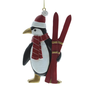 Personlized 3D Penguin and Sleigh Ornament
