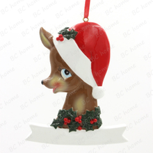 Grandma Reindeer Personalized Christmas Tree Ornament