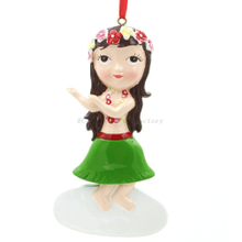 Hula Girl Ornament Personalized Christmas Ornament