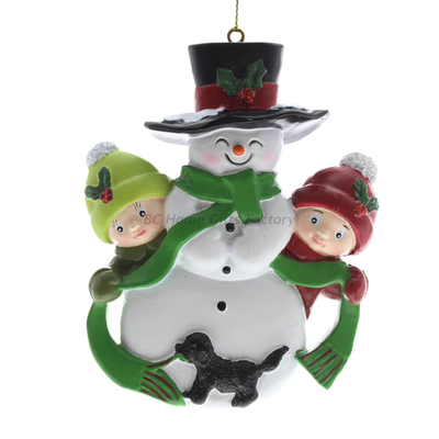 Personlized 3D Snow Man and Baby Ornament