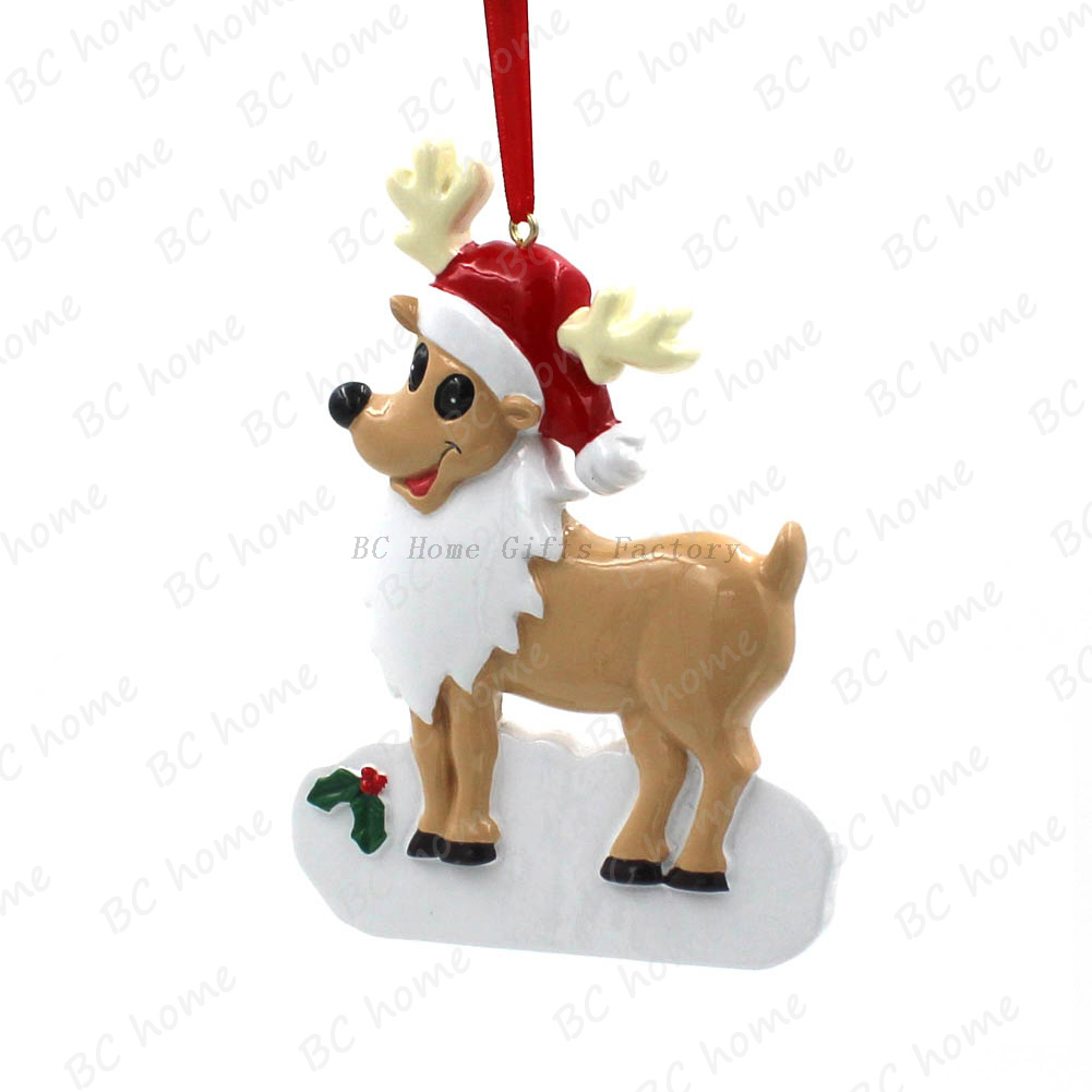 Reindeer Ornament Personalized Christmas Tree Ornament