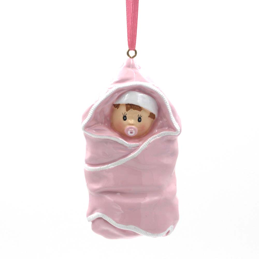 Baby With Quilt Ornament Personalized Christmas Tree Ornament