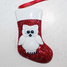 Owl With Sock Ornament Personalized Christmas Tree Ornament