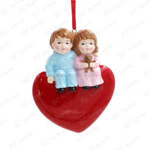Couple With Heart Ornament Personalized Christmas Tree Ornament