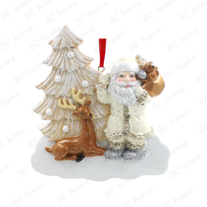 Santa Claus With Xmas Tree Ornament Personalized Christmas Tree Ornament