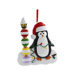 Christmas Penguin With Gifts Box Family Of 4 Personalized Christmas Tree Ornament