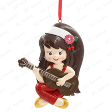 Guitar Girl Ornament Personalized Christmas Tree Ornament