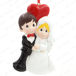 Wedding Couple Personalized Christmas Tree Ornament