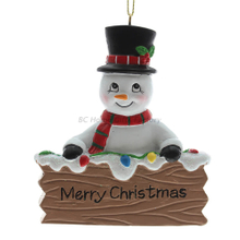 Personlized 3D Snow Man Ornament
