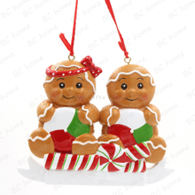 Gingerbread Couple Personalized Christmas Tree Ornament