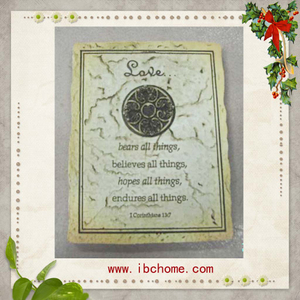 resin souvenir plaque