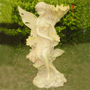 Chaste White Angel With Animal Resin Crafts