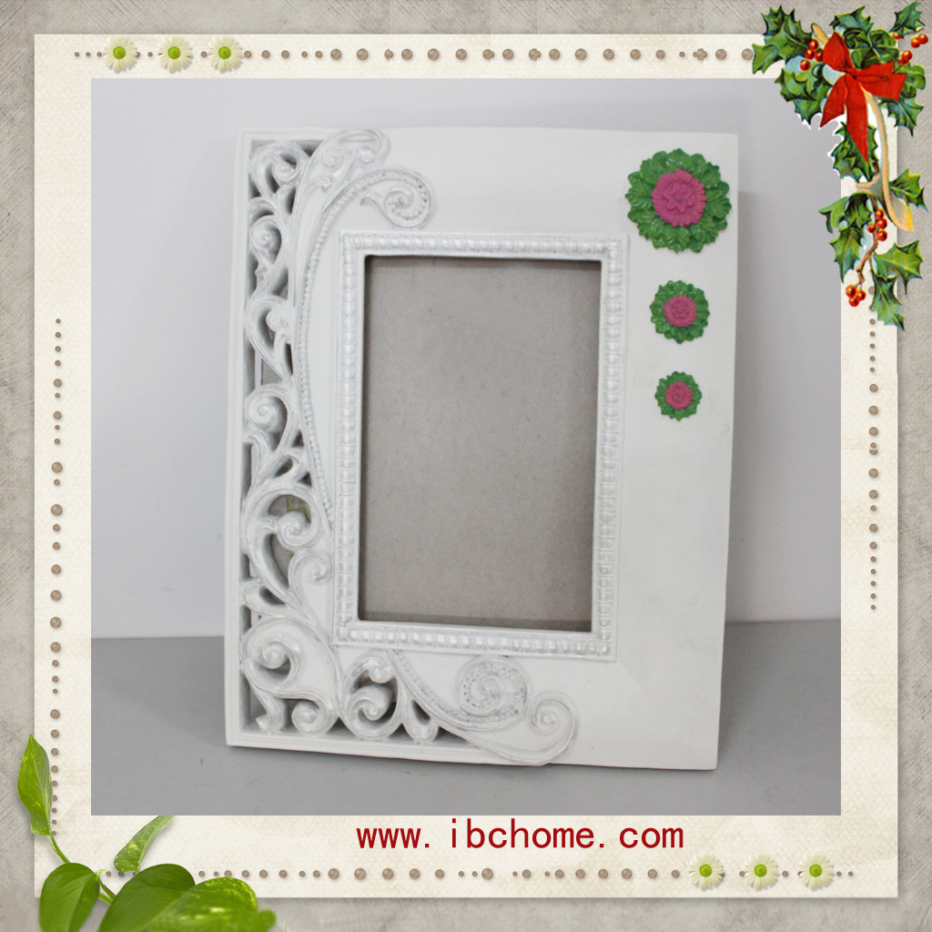 polyresin Photo frame with rose design