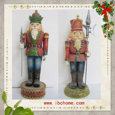 Resin Nutcracker,Christmas Ornaments holiday decoration