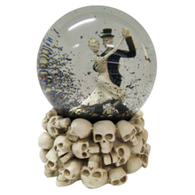 Dancing Bones Halloween resin Snow globe