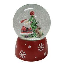 Christmas snow globe with snow