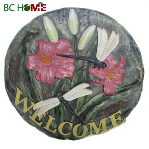 Polyresin gardern stepping-stone decor resin crafts