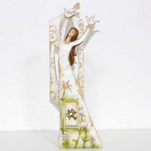 Flying Angel Coming Back With Spring Figurine